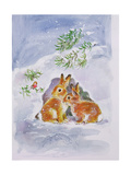 A Christmas Message Giclee Print by Diane Matthes