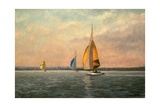 Late Finish - Featuring Dragons on the Medway Giclee Print by Vic Trevett