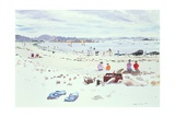 Cobo Bay, Guernsey, 1987 Giclee Print by Lucy Willis