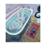 Dreaming in the Bath, 1991 Giclee Print by Lucy Raverat