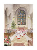 Carol Service Giclee Print by Stanley Cooke