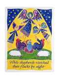 While Shepherds Watched their Flocks by Night Giclee Print by Cathy Baxter
