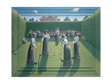 Croquet Giclee Print by P.J. Crook