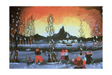 Winter Valley Giclee Print by Herbert Hofer