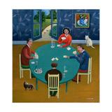 Card Game Giclee Print by Jerzy Marek