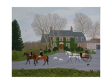 Setting Out for the Meet Giclee Print by Vincent Haddelsey