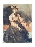 Portrait of Gwen John (1876-1939) Giclee Print by Augustus Edwin John