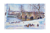 Bakewell Bridge, 1998 Giclee Print by Martin Decent
