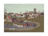 The Hunt Riding Through the Village, 1986 Giclee Print by Vincent Haddelsey
