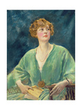 Portrait of Mrs Gribble Giclee Print by Augustus Edwin John