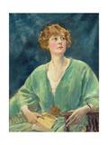 Portrait of Mrs Gribble Giclee Print by Augustus Edwin John