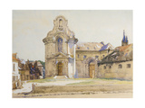 Old Spanish Buildings, Montreuil-Sur-Mer, 1921 Giclee Print by James Clark