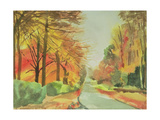No.47 Autumn, Beaufays Road, Liege, Belgium Giclee Print by Izabella Godlewska de Aranda