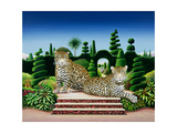 Jaguars in a Garden, 1986 Giclee Print by Anthony Southcombe