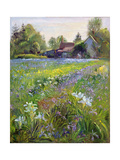 Dwarf Irises and Cottage, 1993 Giclee Print by Timothy Easton