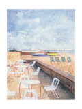 Brighton, Off Season Giclee Print by Barbara Littler