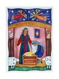 Nativity with Angels Gicléedruk van Cathy Baxter