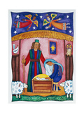 Nativity with Angels Giclee Print by Cathy Baxter