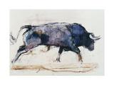 Mark Adlington - Charging Bull, 1998 Digitálně vytištěná reprodukce