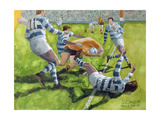 Rugby Match: Australia v Argentina in the World Cup, 1991 Giclee Print by Gareth Lloyd Ball