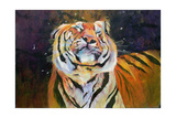 Tiger (Shaking Head) 1996 Giclee Print by Odile Kidd