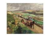 The Road to Market, 1924 Giclee Print by Harold Harvey