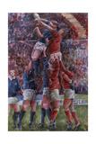 Rugby International, Wales V Scotland Giclee-trykk av Gareth Lloyd Ball