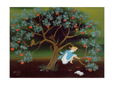 Little Girl on the Tree of Dreams Giclee Print by Magdolna Ban