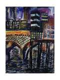 City at Night, 1998 Giclee Print by Hilary Rosen