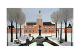 Philadelphia in the Snow Giclee Print by Maggie Rowe