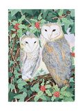 Barn Owls Giclee Print by Suzanne Bailey