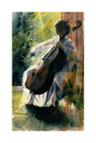 Anna Playing the Cello Giclee Print by John Lidzey