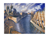 Notre Dame Cathedral, Paris, 1986 Giclee Print by Charlotte Johnson Wahl