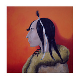 Native Americans Series, No. 5, 1998 Giclee Print by John Wright