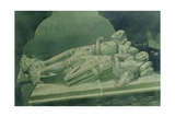 Effigies, Winchelsea Church Giclee Print by Osmund Caine
