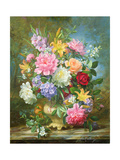 Peonies and Mixed Flowers Giclee Print by Albert Williams
