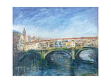 The Ponte Vecchio, Florence, 1995 Giclee Print by Patricia Espir