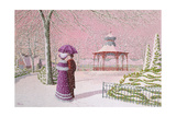 Walking in the Snow Giclee Print by Peter Szumowski