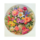 Garden Flowers of July Giclee Print by Albert Williams