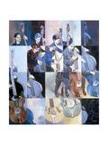 Paula Gardiner, Jazz Bassist, 1998 Giclee Print by Huw S. Parsons