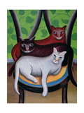 Three Is a Crowd Giclee Print by Jerzy Marek