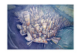 Manhattan from Above, 1994 Giclee Print by Charlotte Johnson Wahl