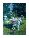 White Chairs at Belchester, 1997 Giclee Print by Susan Ryder