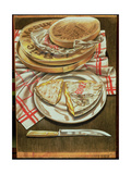 Farmhouse Camembert and Brie, 1984 Giclee Print by Sandra Lawrence