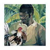 Abel with Fighting Cock, 1961 Giclee Print by Izabella Godlewska de Aranda