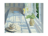 Lilies and a Straw Hat Giclee Print by Timothy Easton