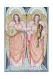 Two Angels Playing Instruments, 1995 Giclee Print by Gillian Lawson