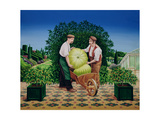 Gardeners, 1990 Giclee Print by Anthony Southcombe