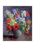 Poppies and Irises, 1991 Giclee Print by Anthea Durose