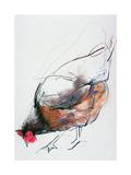 Mark Adlington - Feeding Hen, Trasierra, 1998 Digitálně vytištěná reprodukce